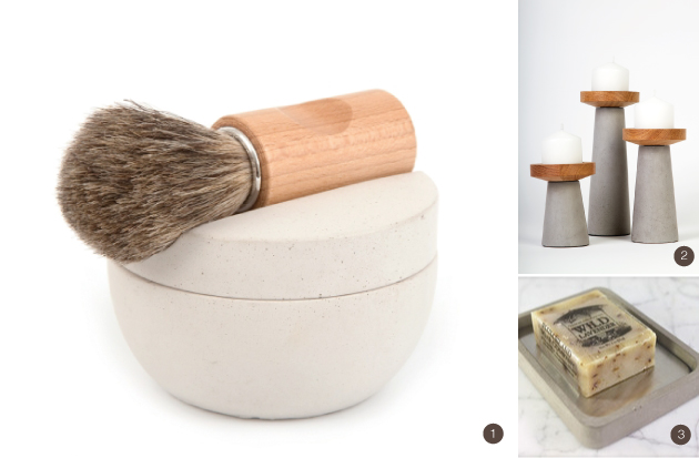 concrete bathroom accessories
