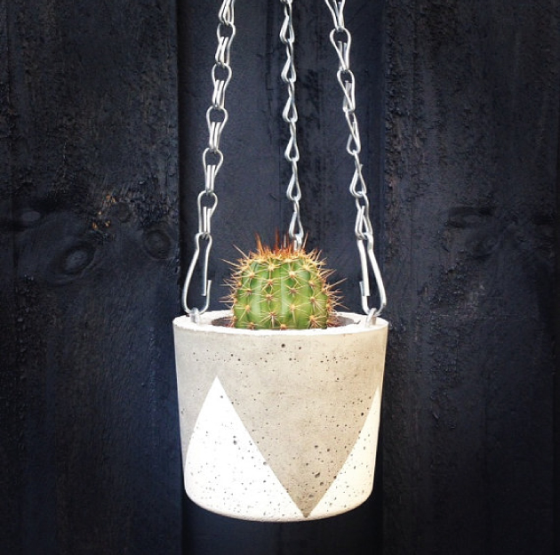 concrete hanging-pot