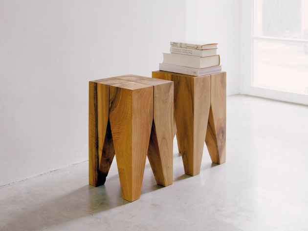 E15 Solid Oak stool by Philipp Mainzer