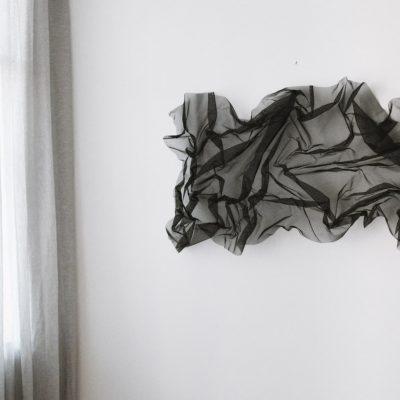 Organic form wire mesh art