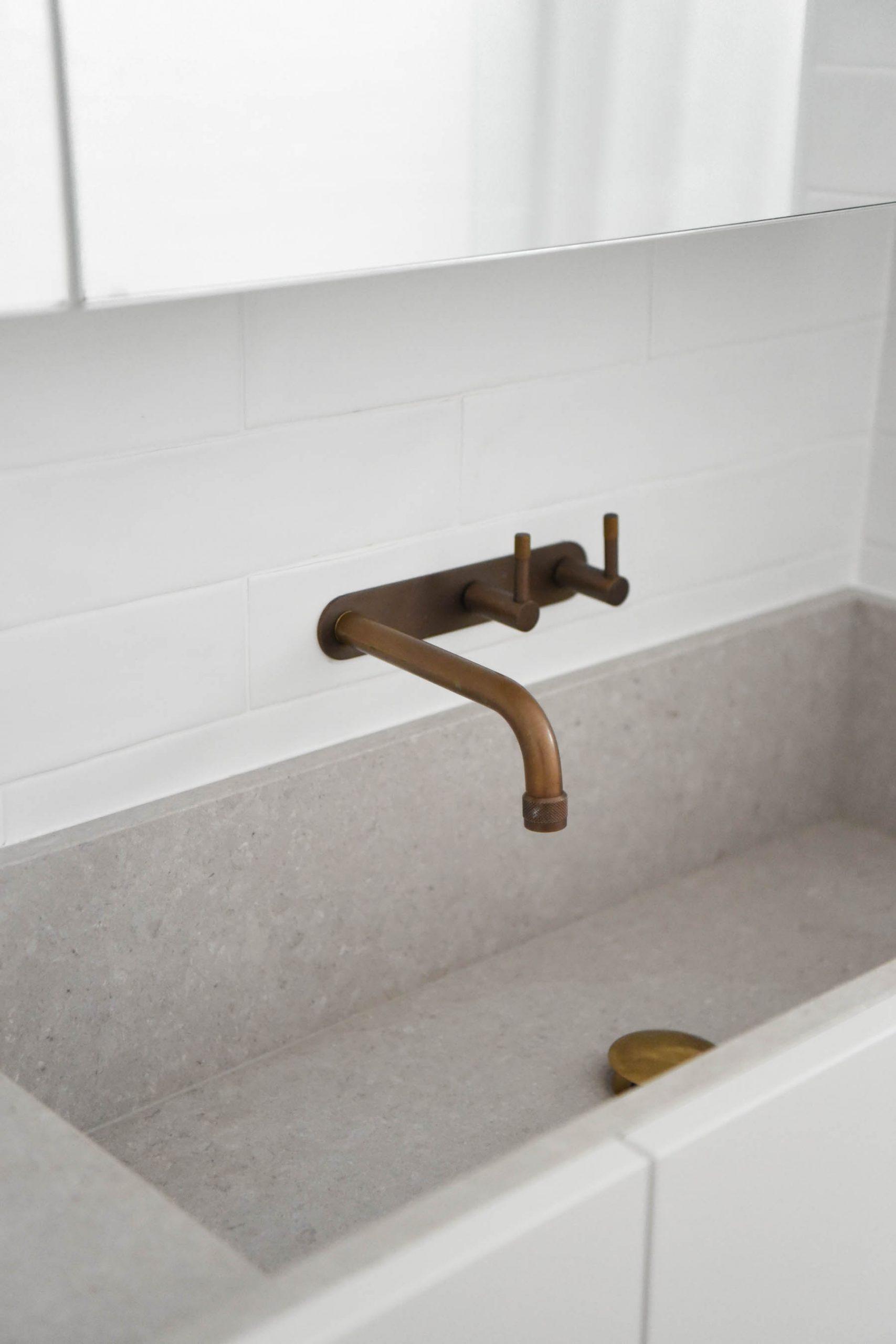 Minimalist bathroom vanity by GatherStudio